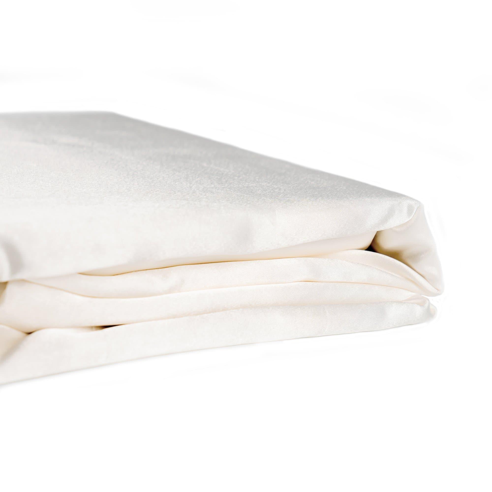 Soft Silk Feel IVORY//CREAM SATIN QUEEN Size Doona Duvet Quilt Cover Bedding Set