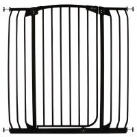 Extra Tall Baby Barrier Safety Gate in Black 100cm