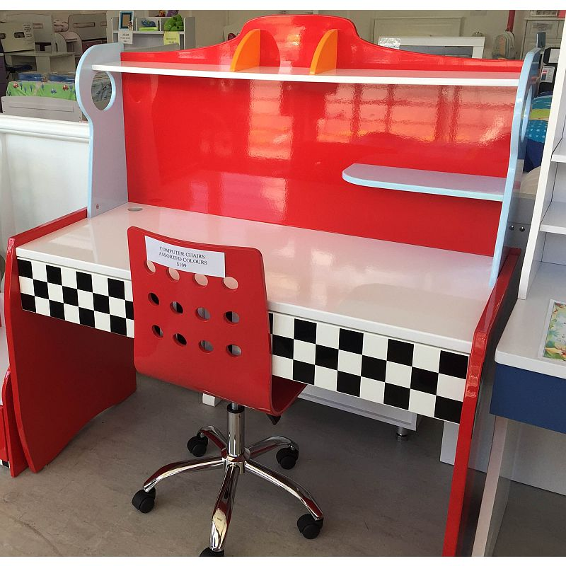 Terrific Racing Checkered Student Kids Desk In Red White Alphanode Cool Chair Designs And Ideas Alphanodeonline