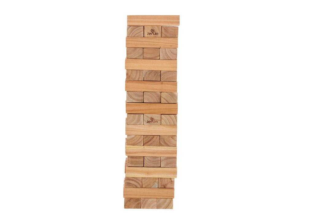 54 Piece Giant Jenga Outdoor Wooden Block Game 91cm | Buy ...