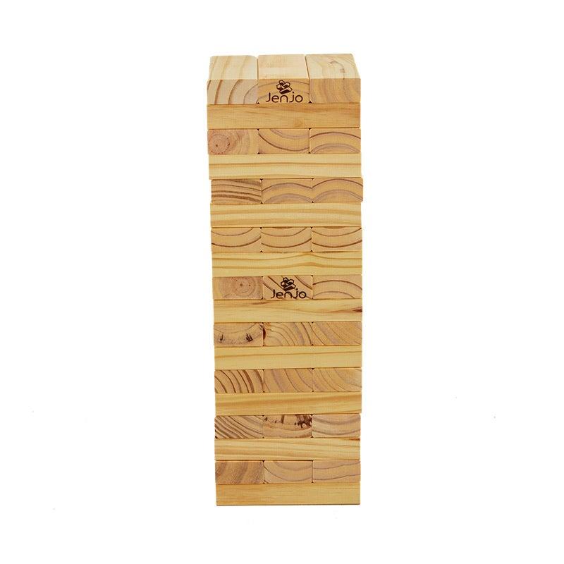 54 Piece Outdoor Giant Jenjo Wooden Block Game 54cm | Buy ...