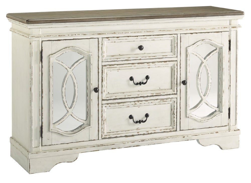 Realyn Indoor Timber Buffet Sideboard Server In Distressed ...