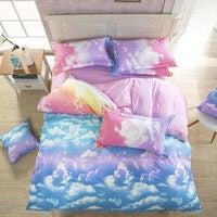 Clouds Queen Size Bed Quilt Doona Duvet Cover & Pillow Cases Set