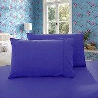 1000TC Premium Ultra Soft Queen Size Pillowcases 2-Pack - Royal Blue