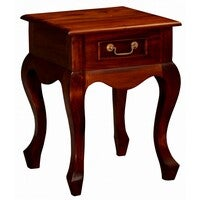 CT Queen Ann 1 Drawer Lamp Table