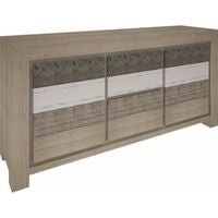 VI Chasterhill Acacia Timber Buffet 2 Doors & 2 Drawers Brushed & Multi Colour Finish