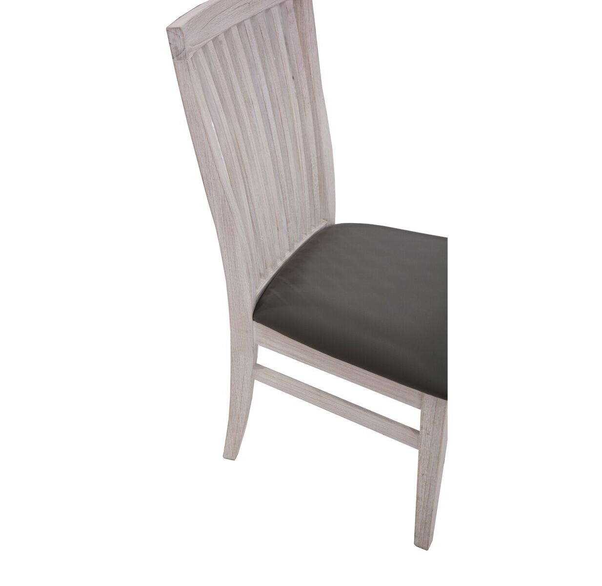 Vi Florence Brushed Mountain Ash Dining Chair Pu Seat
