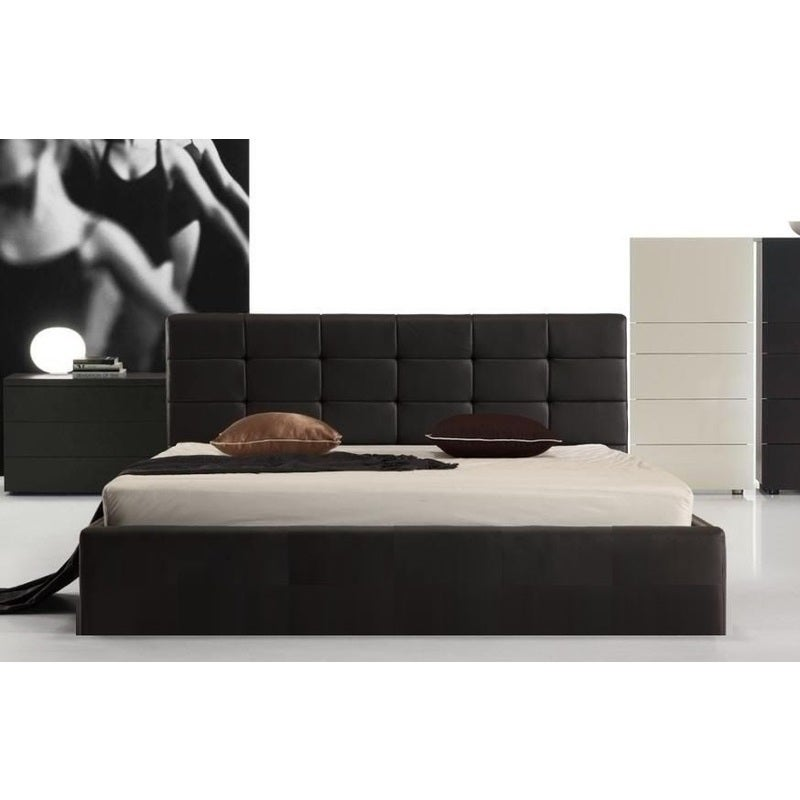 Fife Queen Size Pu Leather Gas Lift Bed Frame In Black