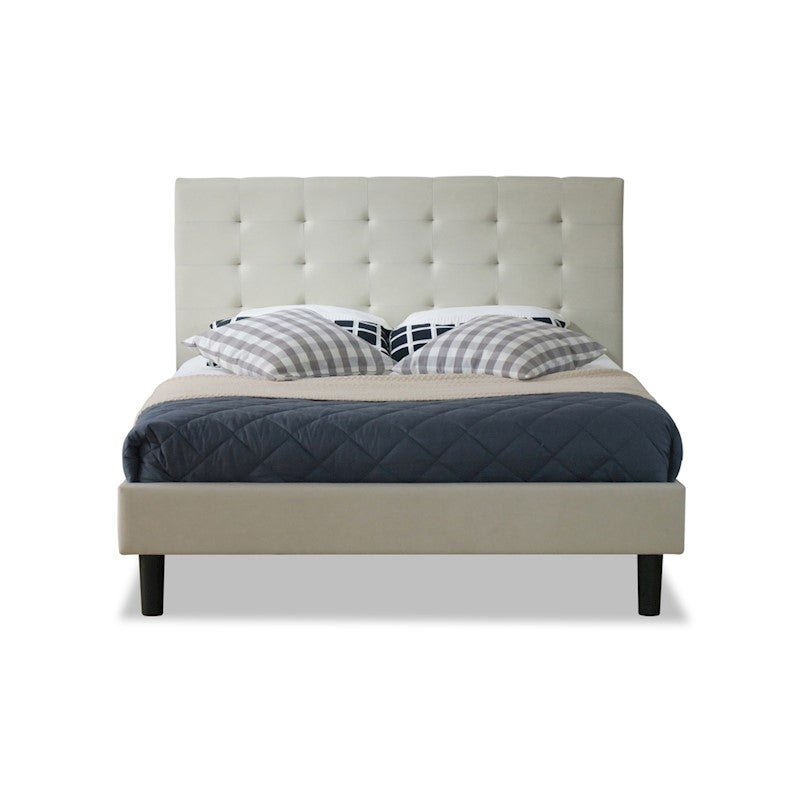 Albany Wilt King Single Bed Frame Fabric Beige Buy King