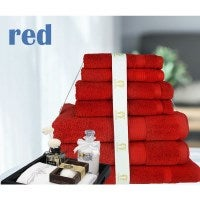 7 or 14pc Anti-Bacterial & Hypoallergenic Bamboo Egyptian Cotton Bath Towel Sets in 6 Colours 600GSM