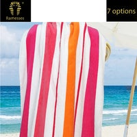 Jacquard Egyptian Cotton Multi-Stripe Beach Towel Twin Pack