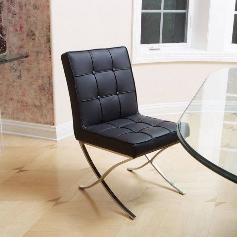 Incredible Pandora Modern Bonded Leather Dining Chair In Black Uwap Interior Chair Design Uwaporg