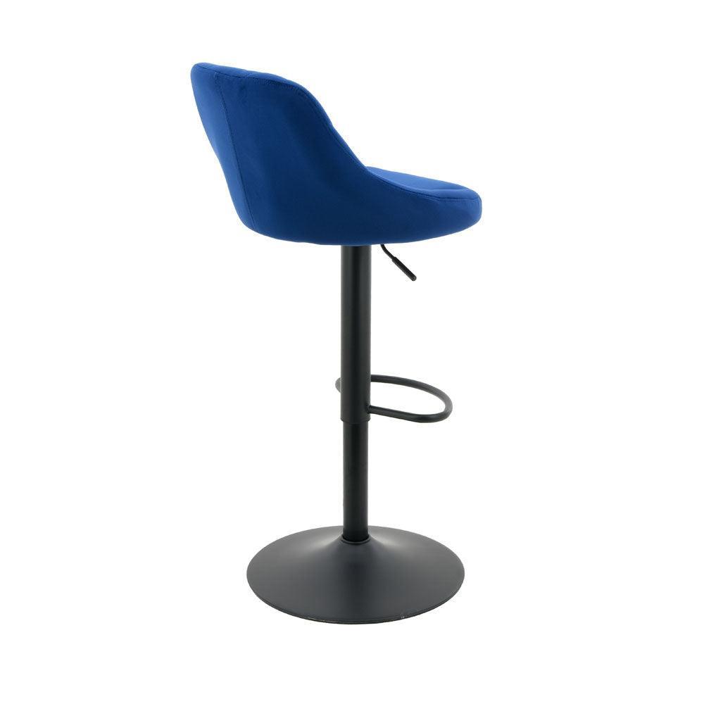 arco kitchen gas lift bar stool set of 2  royal blue
