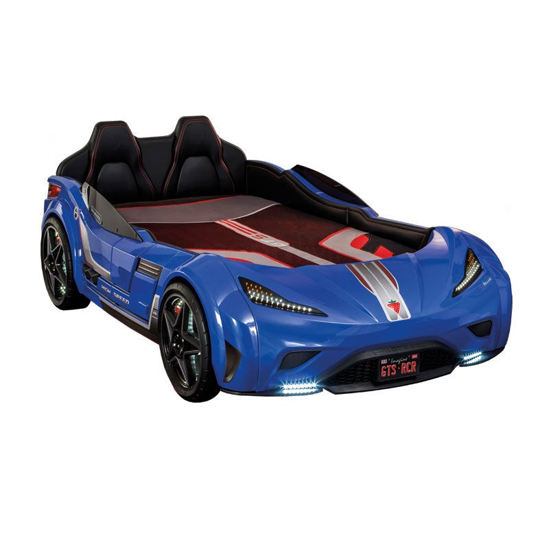 Cilek Kids Gts Race Car Bed With Led Lights Blue Buy