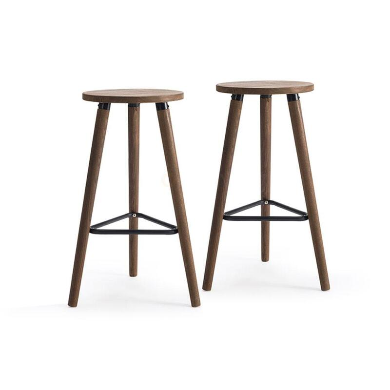 Outstanding Villa Vintage Wooden Bar Stools Set Of 2 Solid Wood Forskolin Free Trial Chair Design Images Forskolin Free Trialorg