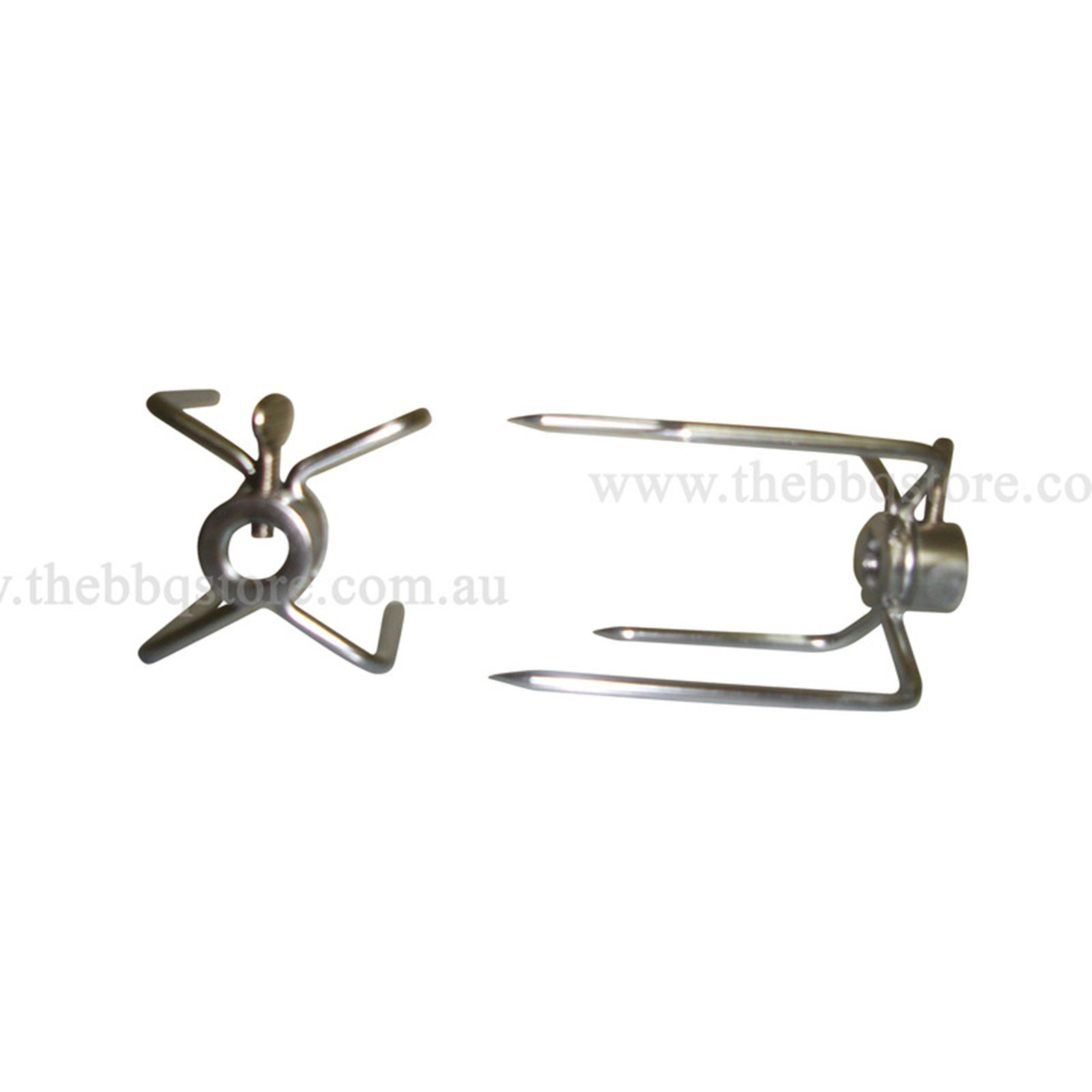 New S//S Long 2 Prong Forks for Rotisserie BBQ Spit Set of 2 suit 22mm Round S