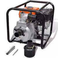 vidaXL Petrol Engine Water Pump 50mm Connection 5.5HP Irrigation Application