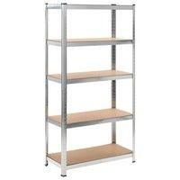 90x180cm Steel Garage Storage Shelving Rack Stand Warehouse 1325kg Shelves MDF