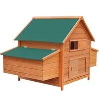 vidaXL Chicken Coop Wood 157x97x110cm Hen Cage Chook House Rabbit Hutch Nest