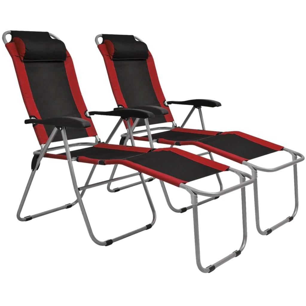 vidaXL 2x Folding Camping Chairs 52x59x80cm Green Outdoor Garden Hiking Seat