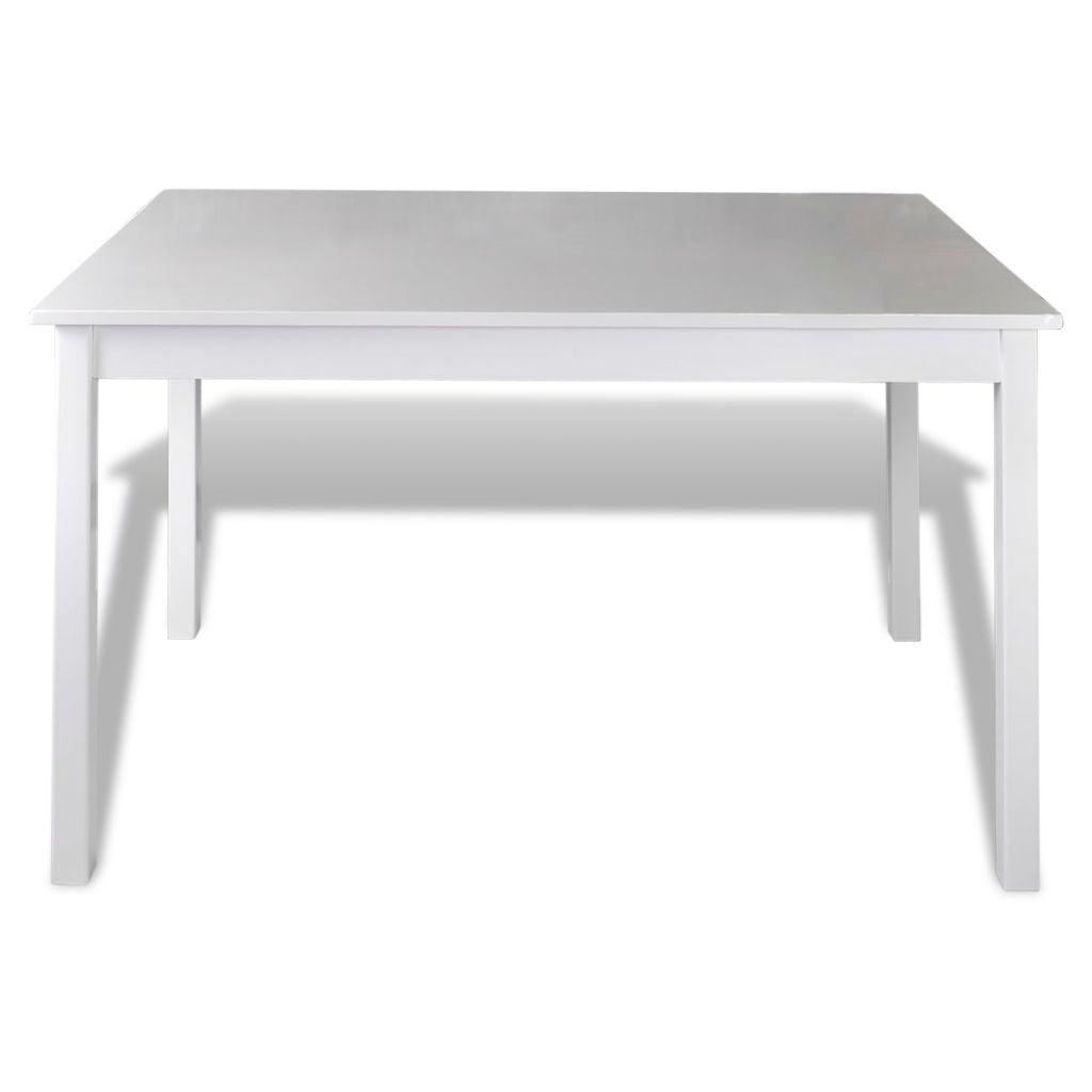 VidaXL 5 Piece Dining Set White Home Kitchen Furniture