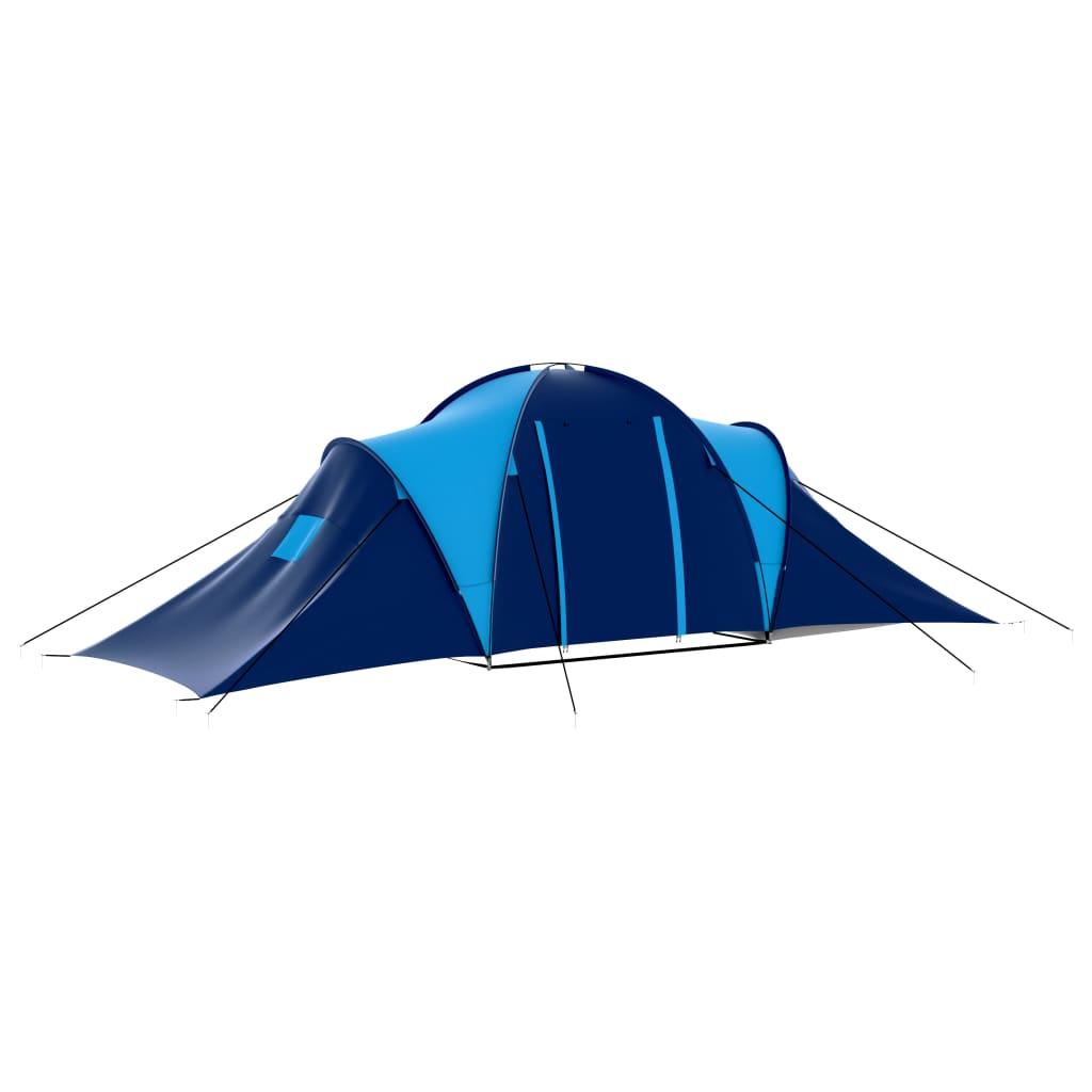 vidaXL Outdoor Blue Family 9 Person Camping Dome Tent ...