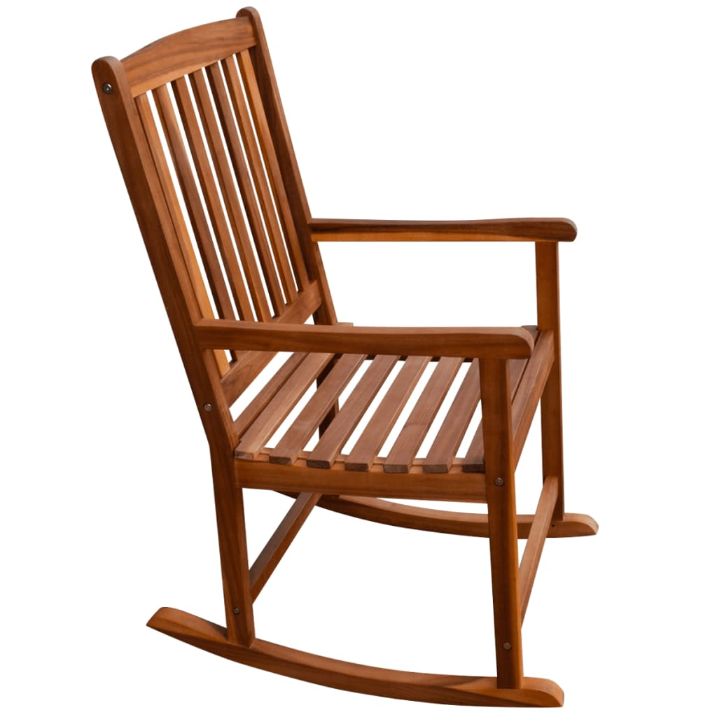 Astonishing Acacia Wood Timber Garden Rocking Chair Outdoor Seating Furniture W Cushions Squirreltailoven Fun Painted Chair Ideas Images Squirreltailovenorg