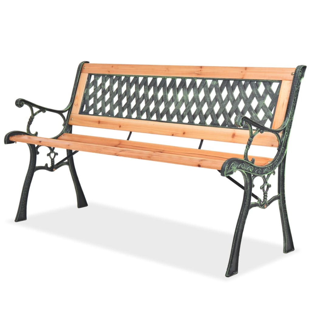 Sensational Vidaxl Garden Bench With Diamond Patterned Backrest Wood Seat Patio Furniture Pabps2019 Chair Design Images Pabps2019Com