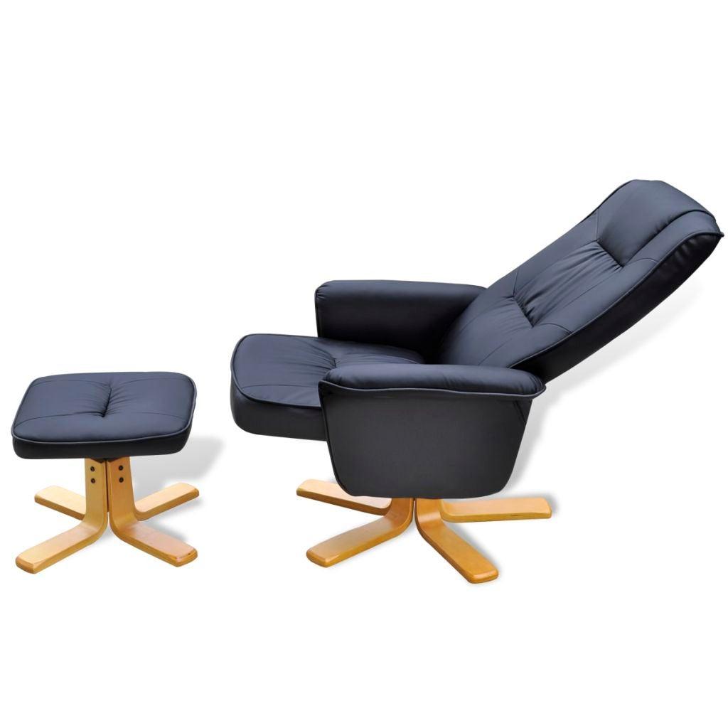 Vidaxl Armchair With Footrest Adjustable Artificial