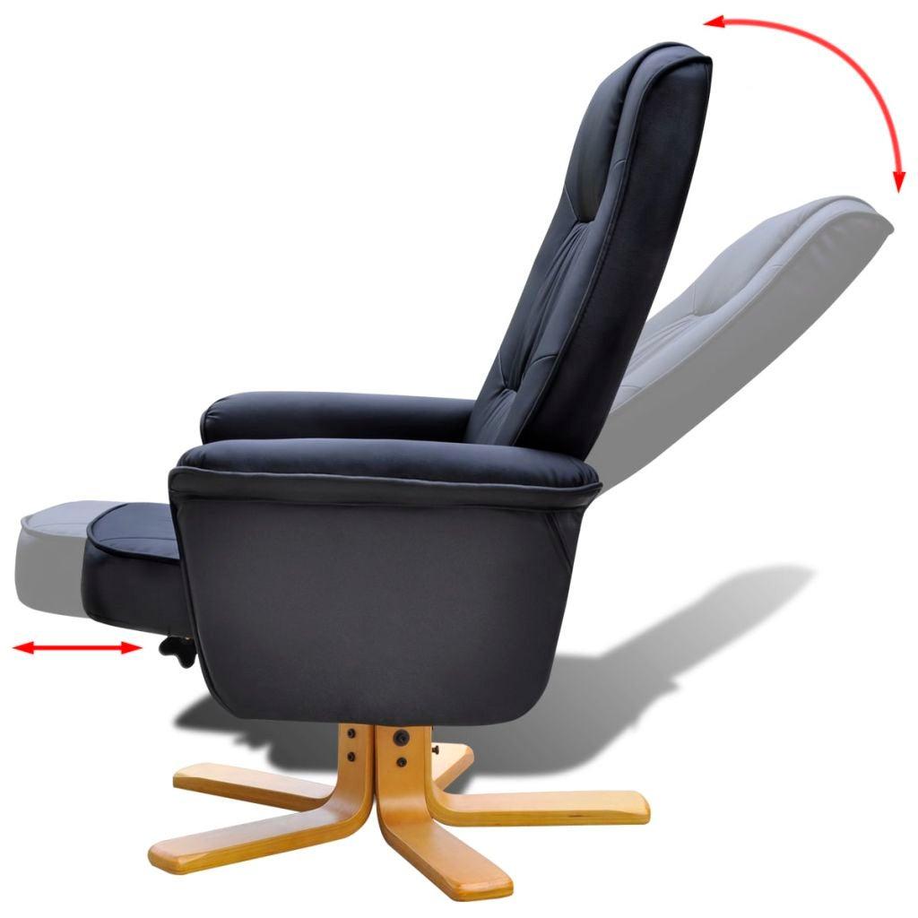 vidaXL Armchair with Footrest Adjustable Artificial ...
