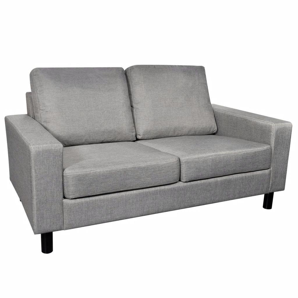 Vidaxl Sofa 2 Seater Fabric Light Grey Home Living Room