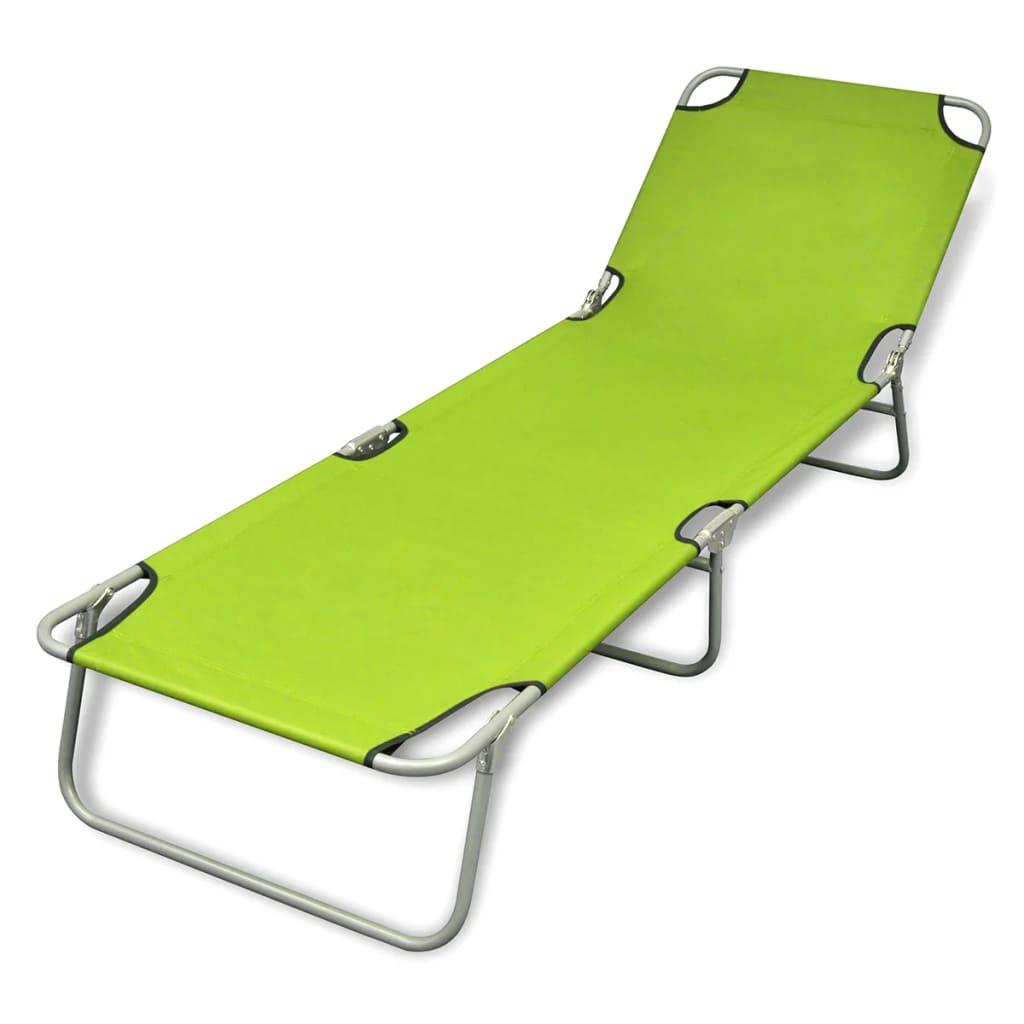 Remarkable Outdoor Folding Recliner Sun Bed Lounge Pool Beach Chair Sunbake Green Adjust Creativecarmelina Interior Chair Design Creativecarmelinacom