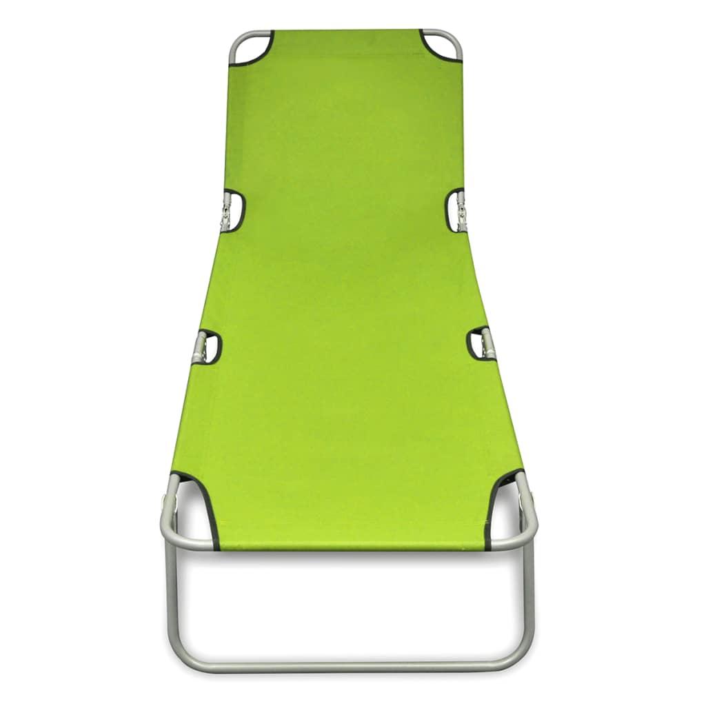 Marvelous Outdoor Folding Recliner Sun Bed Lounge Pool Beach Chair Sunbake Green Adjust Creativecarmelina Interior Chair Design Creativecarmelinacom