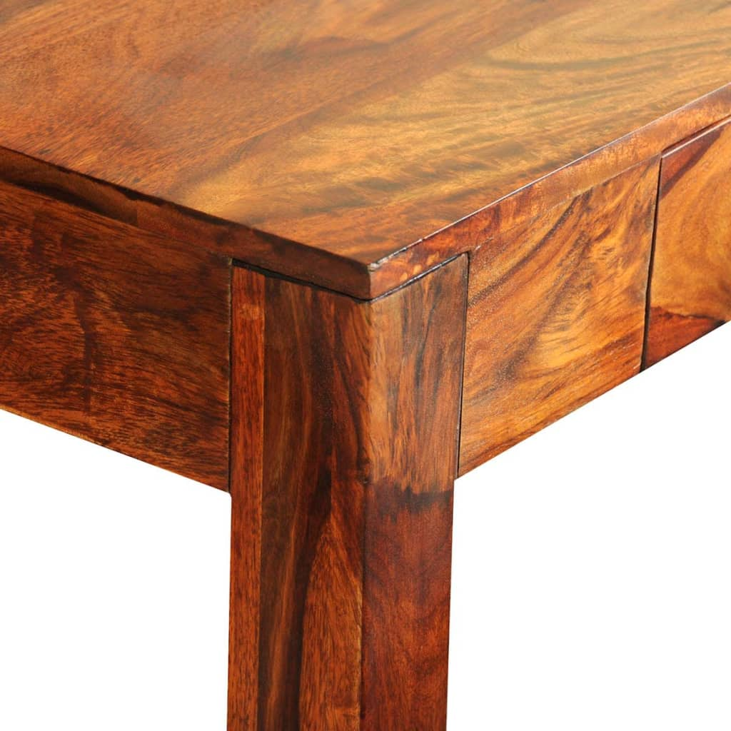 vidaXL Solid Sheesham Wood Console Table with 3 Drawers ...