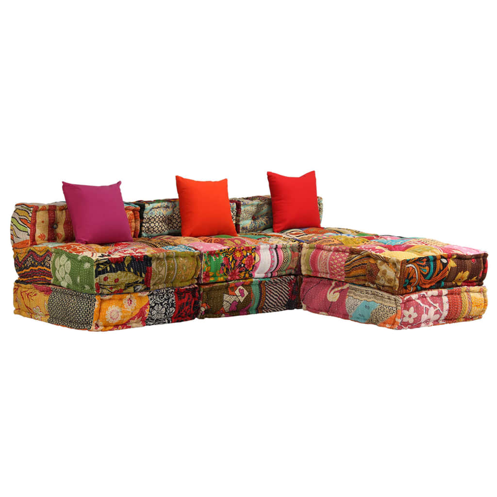 Super Vidaxl 3 Seater Modular Sofa Bed Fabric Patchwork Lounge Couch Living Room Caraccident5 Cool Chair Designs And Ideas Caraccident5Info
