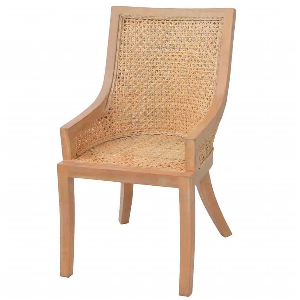 vidaxl 6x dining chairs rattan home kitchen living room
