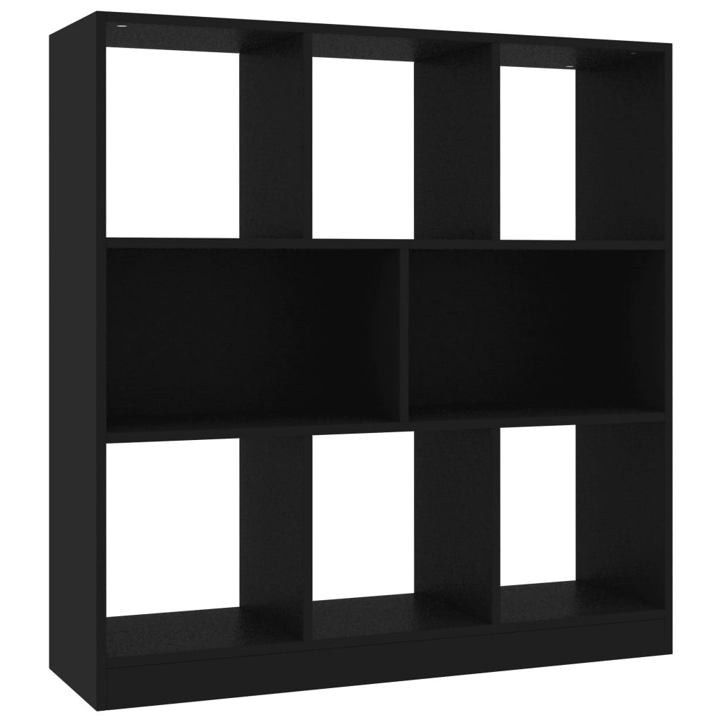 vidaXL Storage Cube Organiser with 6 Compartments Black Rack Display Unit