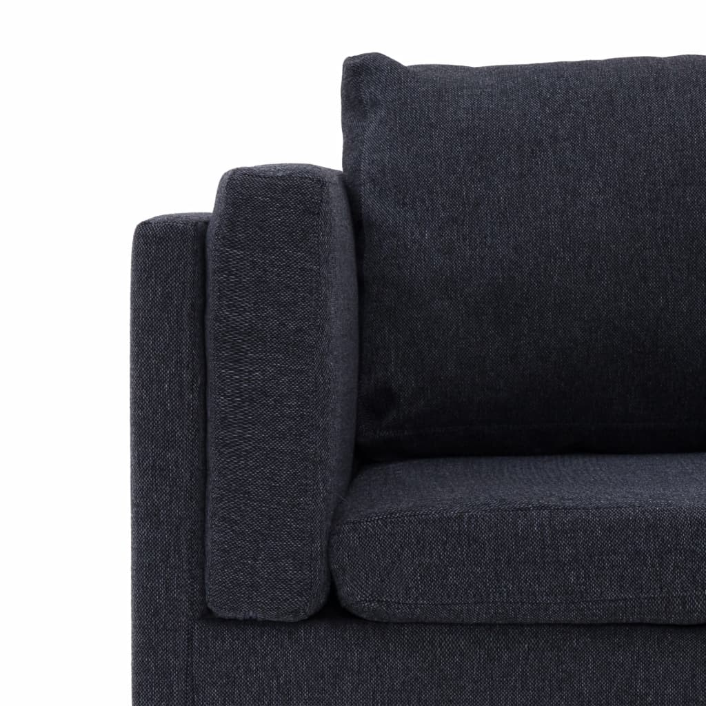 Vidaxl Corner Sofa Dark Grey Fabric 251cm Wooden Frame