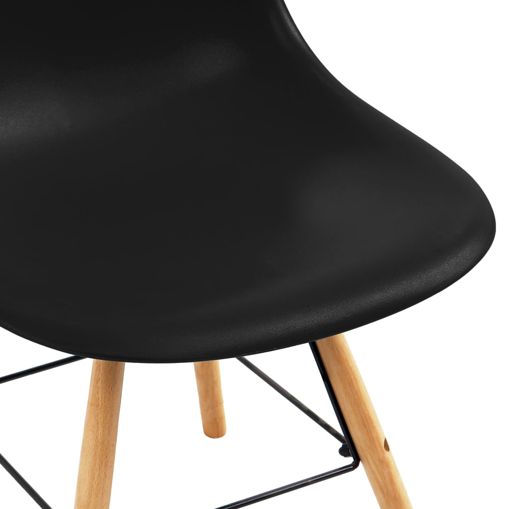 chairs dining room chairs | vidaXL 2x Dining Chairs Black Plastic Eames Dinner Room ...