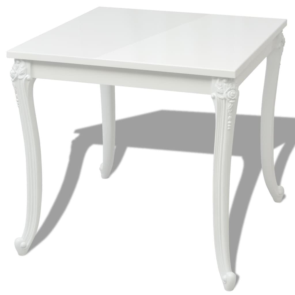 vidaxl dining table 80x80x76 cm high gloss white kitchen