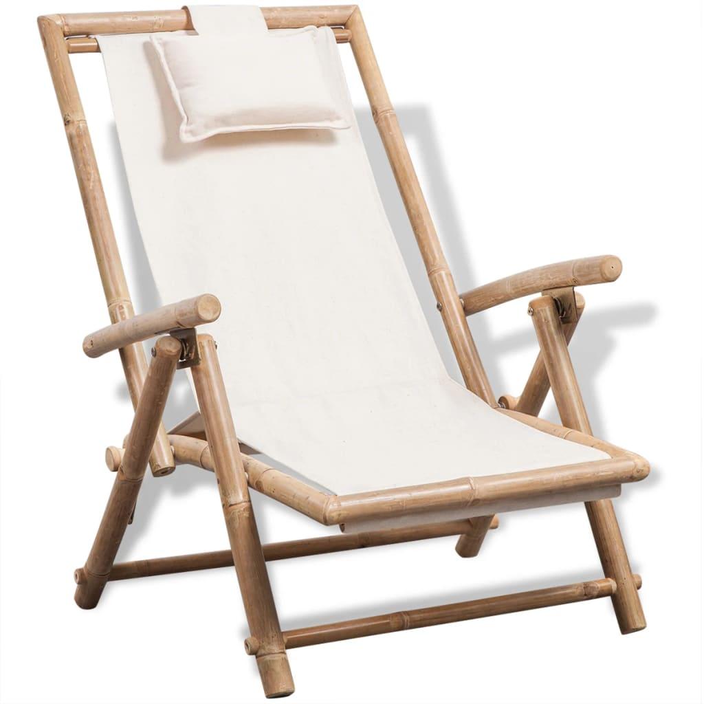 Admirable Vidaxl Folding Outdoor Deck Chair Bamboo Garden Armchair Seat Sunlounger Inzonedesignstudio Interior Chair Design Inzonedesignstudiocom