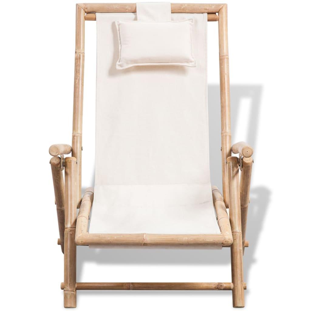 Enjoyable Vidaxl Folding Outdoor Deck Chair Bamboo Garden Armchair Seat Sunlounger Inzonedesignstudio Interior Chair Design Inzonedesignstudiocom