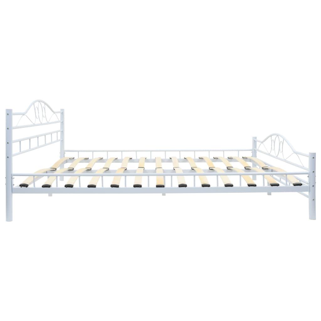 Vidaxl Metal Bed Frame With Slatted Base 183x203cm Curl