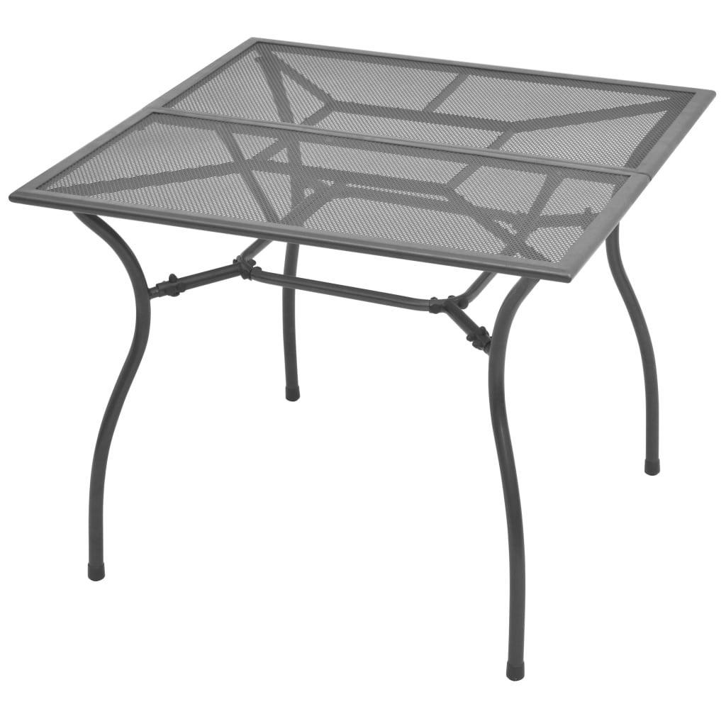 vidaXL Outdoor Dining Table Poly Rattan Solid Acacia Wood 115x74cm//150x74cm