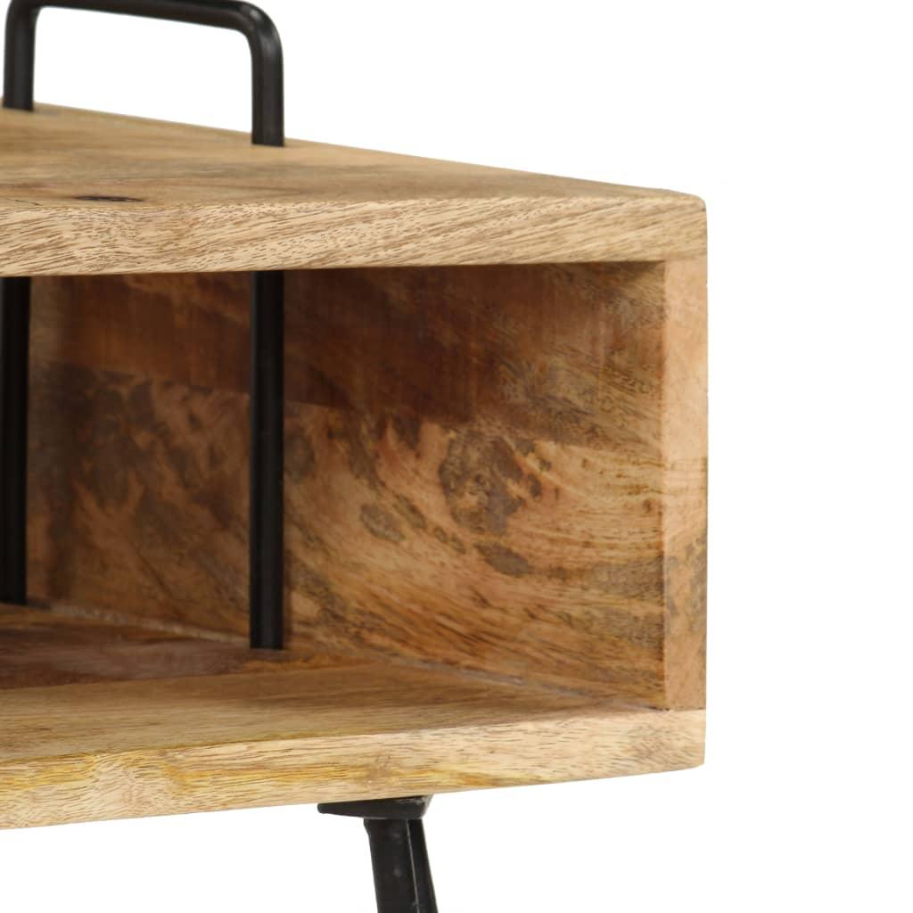 Vidaxl Solid Mango Wood Bedside Table Storage Nightstand
