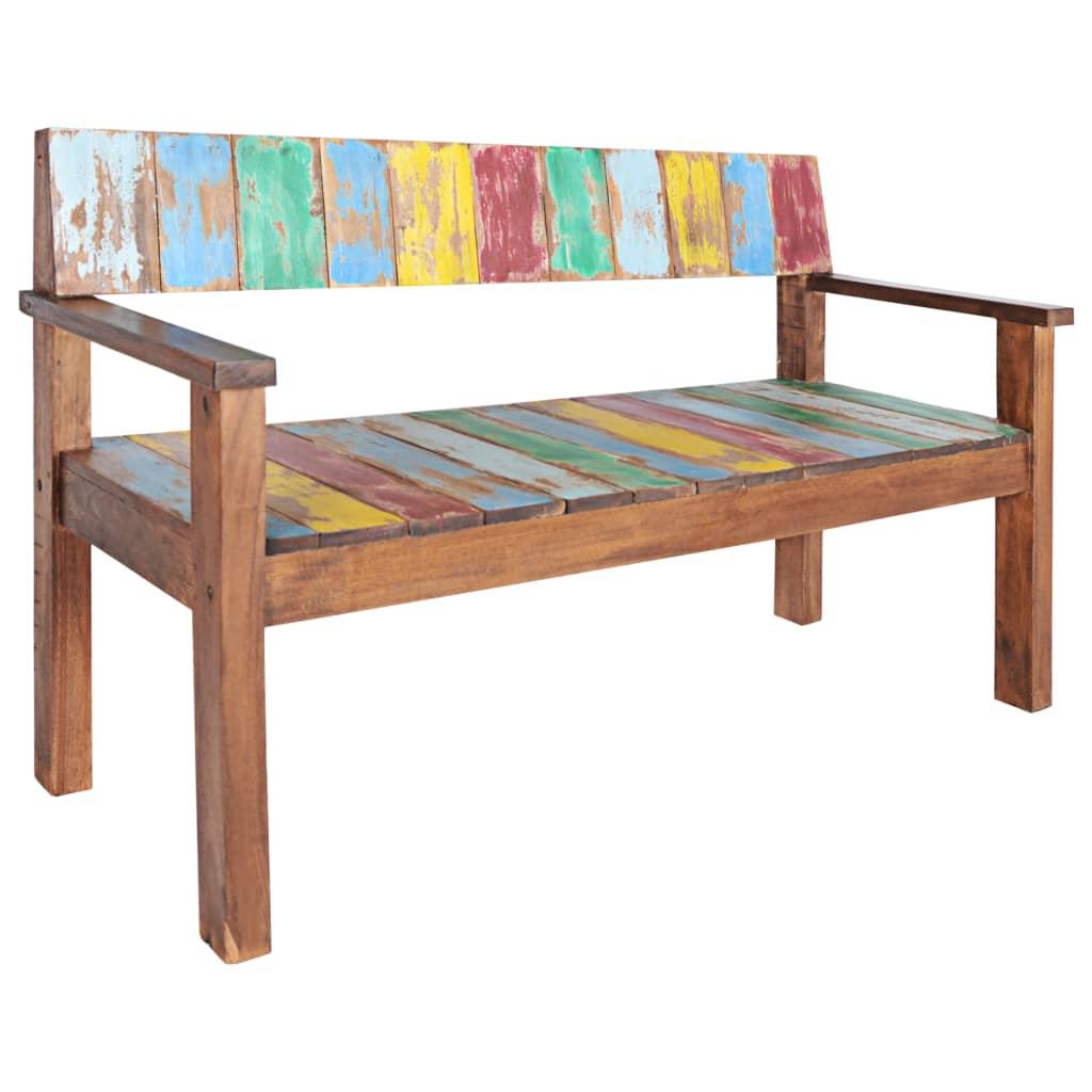Strange Vidaxl Solid Reclaimed Boat Wood Bench Entryway Hallway Seat Chair Furniture Spiritservingveterans Wood Chair Design Ideas Spiritservingveteransorg