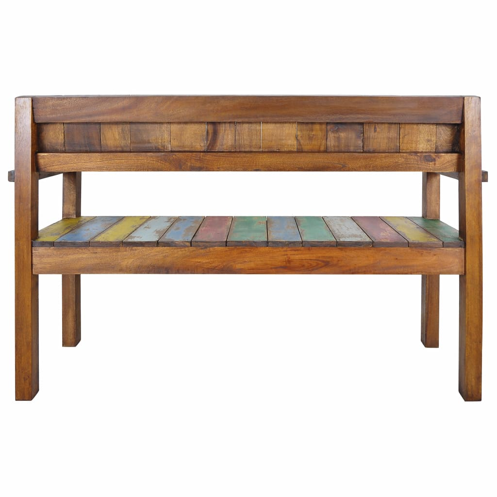 Enjoyable Vidaxl Solid Reclaimed Boat Wood Bench Entryway Hallway Seat Chair Furniture Pabps2019 Chair Design Images Pabps2019Com