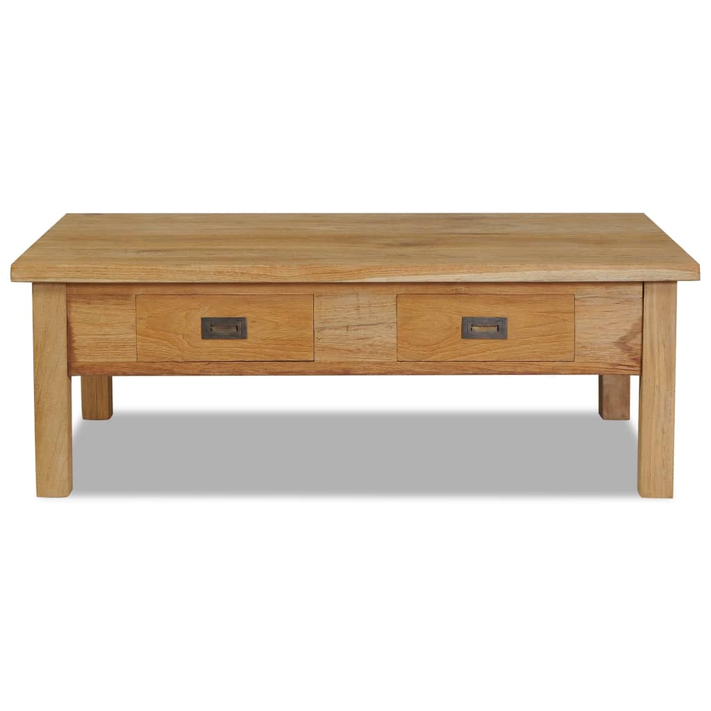 vidaXL Solid Teak Coffee Table 100x60x35cm Living Room ...