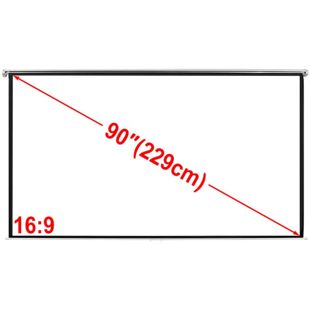 vidaXL Manual Projection Screen 200x113cm Matt White Wall