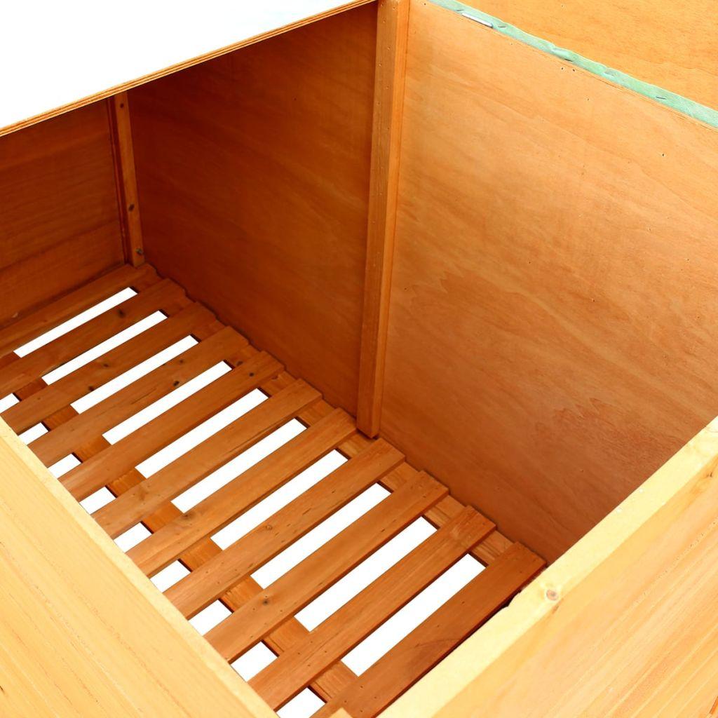 Waterproof Wood Storage Box: Wooden Outdoor Garden Storage Box Waterproof Deck Toy Tool